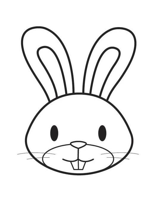 Coloring Page Rabbit Head Coloring Picture Rabbit Head Free