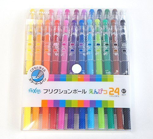 Pilot FriXion Erasable Gel Ink Pens, 0.7mm, Assorted Colors, 24/Pack (LFP312FN-24C), http://www.amazon.com/dp/B003R7ZVF2/ref=cm_sw_r_pi_awdm_RZiAub03A9ARA