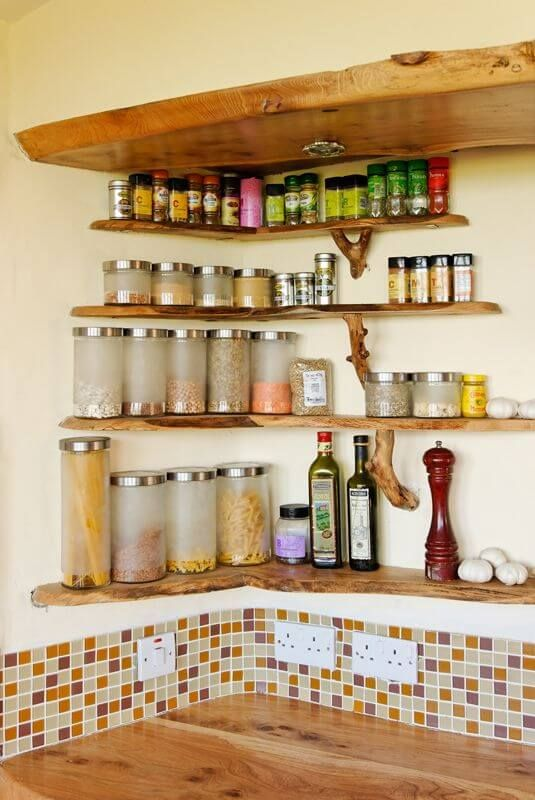 17 Unique Spice Rack Ideas To Make Cooking More Enjoyable Kitchen Wall Shelves Corner Kitchen Cabinet Kitchen Spice Racks