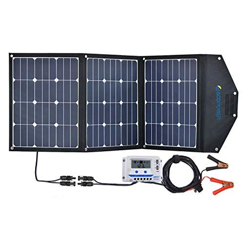 Acopower 120w Portable Solar Panel 12v Foldable Solar Charger With 10a Lcd Charge Controller In Suitcas Portable Solar Panels Solar Panels Solar Panels Design