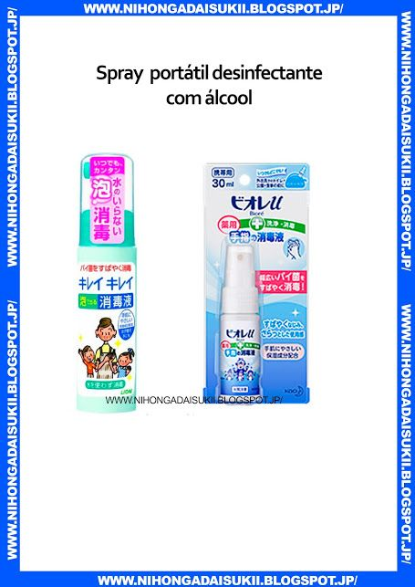 Spray portátil desinfectante com álcool