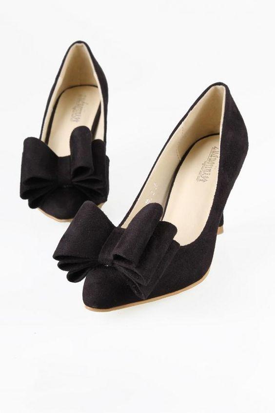 Bow-Accent Pumps - ZDJ Footwear