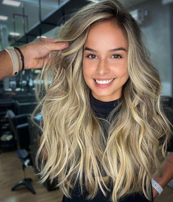 cabelos com loiro pelorado glamour