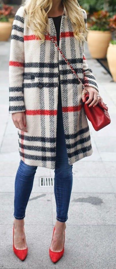 #street #style / plaid coat