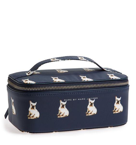 Marc Jacobs French Bulldog Travel Cosmetics Case