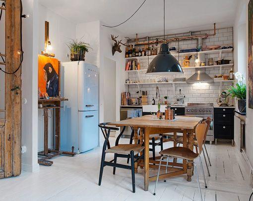Apartamento de 40 metros: cómodo, funcional y a todo color - blogs de Decoracion