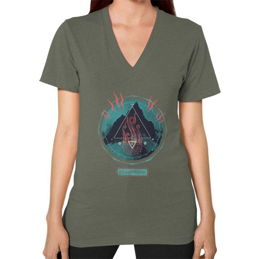 Mountain of Madness V-Neck (on woman)
