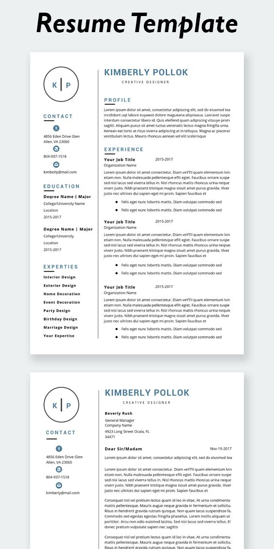 Resume Template Professional Resume Template Instant Etsy In 2020 Resume Template Professional Resume Template Resume Template Word