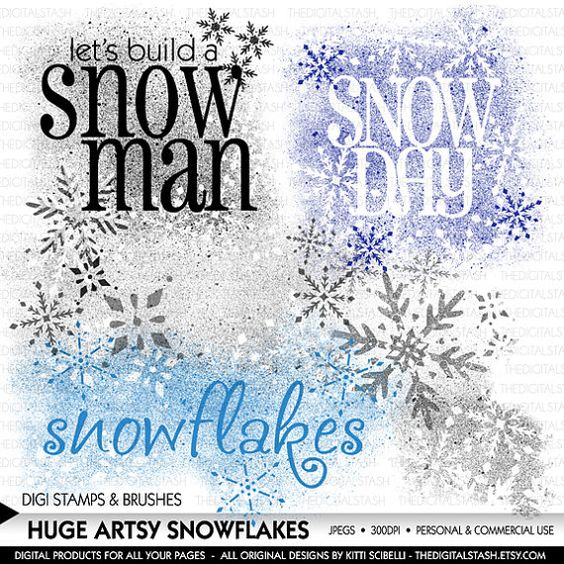 Artsy Snowflakes  5 Huge Digital Stamps and by TheDigitalStash https://www.etsy.com/listing/215087890/artsy-snowflakes-5-huge-digital-stamps