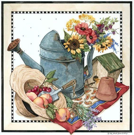 regadera-flores-casa de pájaros-maceta: