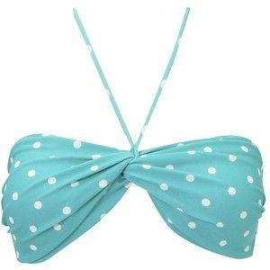 Polka Dot Bandeau Bikini Top