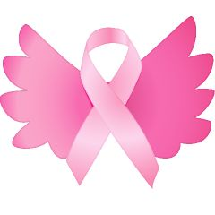 PiNK ribbon angel wings