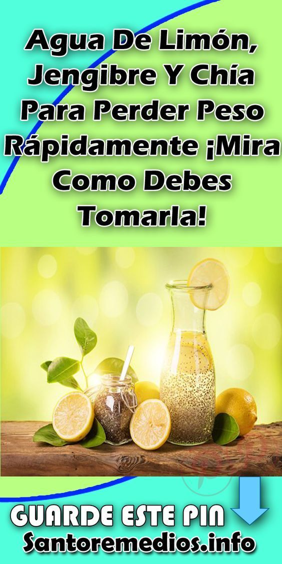 agua para bajar de peso limon jengibre
