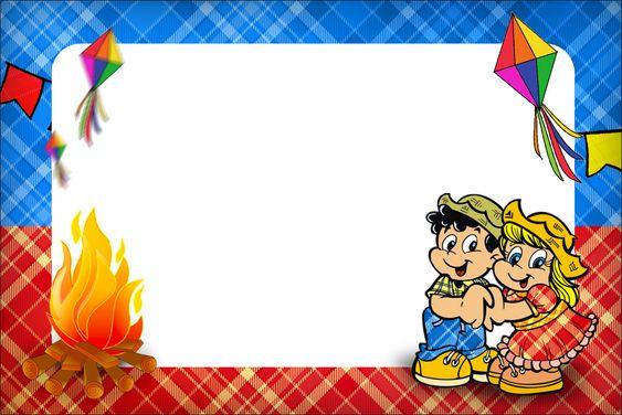 Convite, Moldura e Cartão Festa Junina::