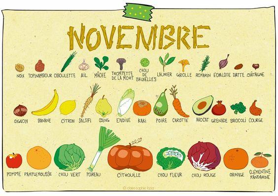 Resultado de imagem para fruits novembre