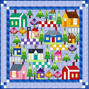 All Around the Neighborhood Pattern Set at Everything Quilts: