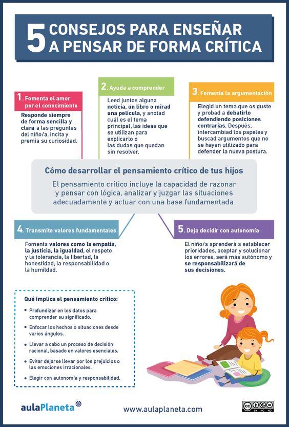 Cómo enseñar a pensar de forma crítica a los niños