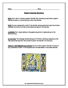 Printables Genetic Disorders Worksheet genetics genetic disorder brochure project the general student students will choose a that interests them and create to inform the