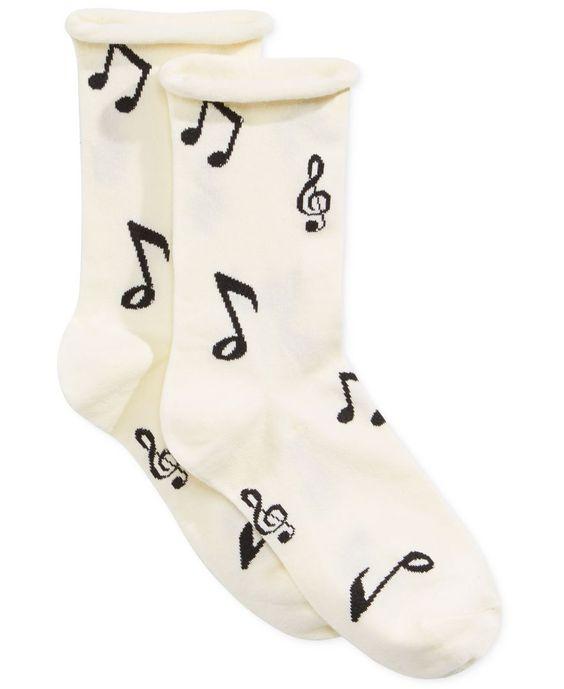 kate spade new york Music Note Crew Socks