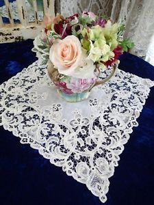 Fantastic-Heirloom-Antique-Handmade-Brussels-LACE-Bridal-HANDKERCHIEF-Wedding  Vintageblessings