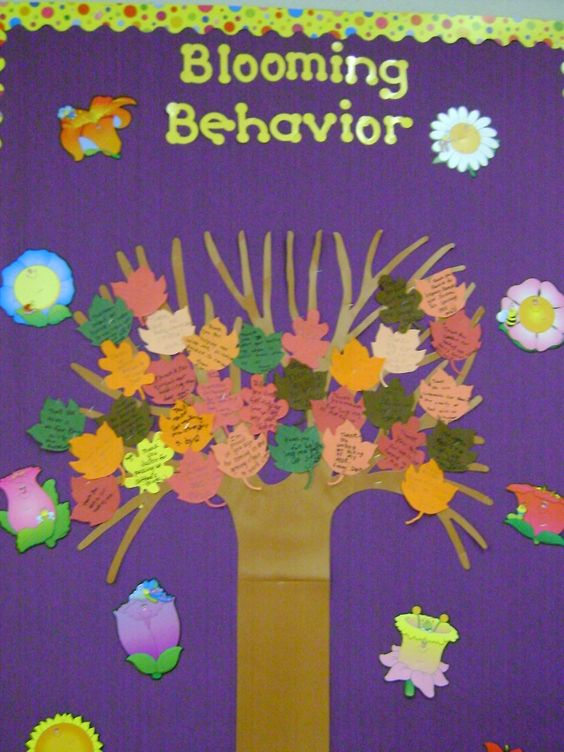 Have students fill out leaves when they catch another student with good behavior or doing something nice.  Reward students who receive leaves.  Make it a class goal to fill the entire tree.