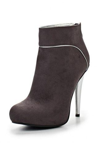 Ботильоны коричневого оттенка от Lamania - это актуальная весенняя обувь. Материал верха выполнен из искусственного велюра. Детали: застежка-молния на заднике, высокий каблук-шпилька. http://j.mp/1pN8tla