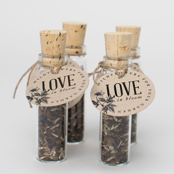 Flower Seed Wedding Favours: International Convention Gift Idea? Wildflower Seed Favors
