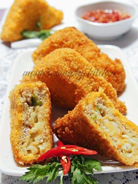 Roti Tawar Goreng Ayam Fusilli Rotis Fusilli Makanan