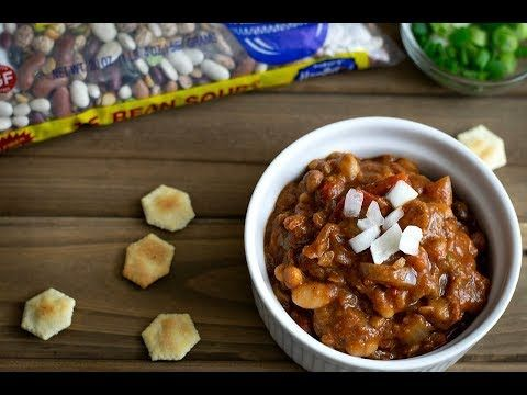 This 15 Bean Vegan Crockpot Chili Is The Bomb No Weird Meat Substitutes No Fancy Gadgets Just A Crockpot Beans In Crockpot Crockpot Chili Vegan Crockpot