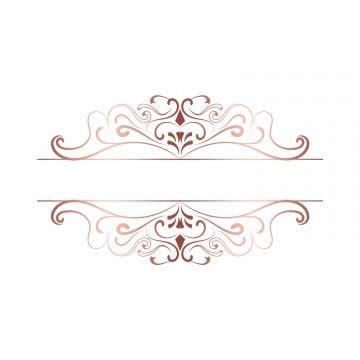 Rose Gold Border Vintage Floral Delicate Frame For Valentine Day Png And Psd In 2020 Floral Border Design Floral Logo Design Floral Logo