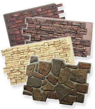 Faux stone panels for sale at FauxPanels.com.                                                                                                                                                      More