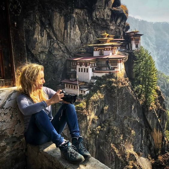 Photograph by @ruppografie -  Totally relaxed and happy 😍 Do what you love and love what you do! . . . . #Taktsang #Paro #monastery #Bhutan…