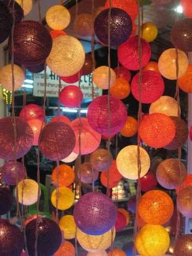 Luces 20 bolas esferas de hilo con luces luz pinterest - Bolas de hilo ...