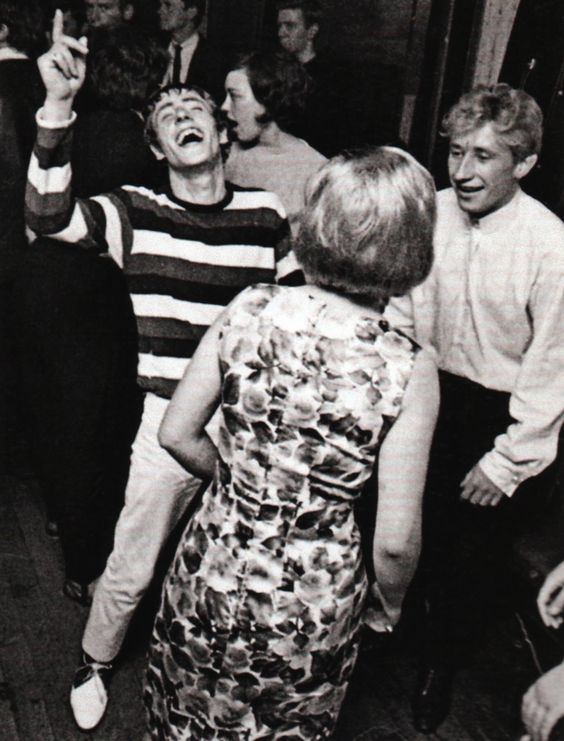 "isabelcostasixties: "" Roger Daltrey in the party at Railway Hotel, Wealdstone…"