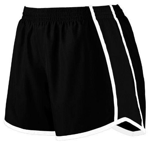 $22.95 cool Augusta Sportswear Women's Moisture Elastic Short, Black/Black/White, XX-Large