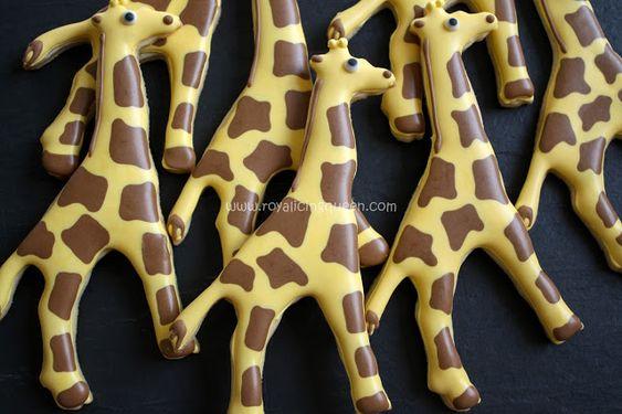 The Royal Icing Queen: Giraffe Cookies