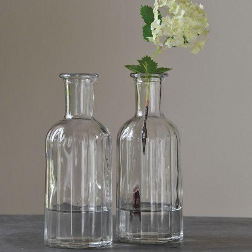Vintage Glass Bottle Vase 2 Sizes Bottle Vases Wedding Glass