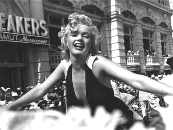 Marilyn Monroe as Grand Marshall for the Miss America Parade, in Atlantic City.