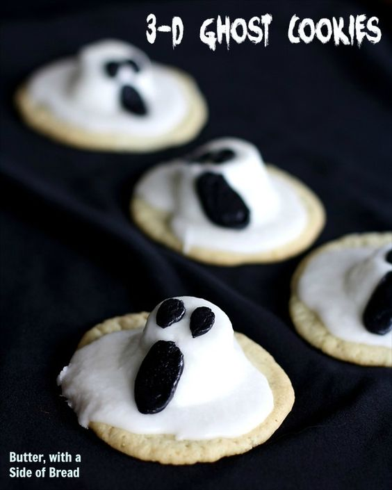 Ghost Cookies ~ so cute and easy too! Butter with a Side of Bread ...