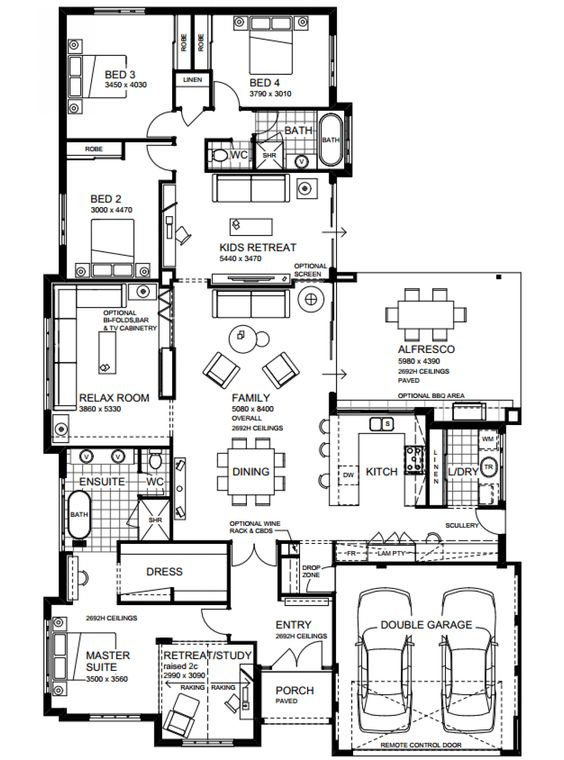 Hamptons beach house floor plans home design and style for Hampton style beach house plans
