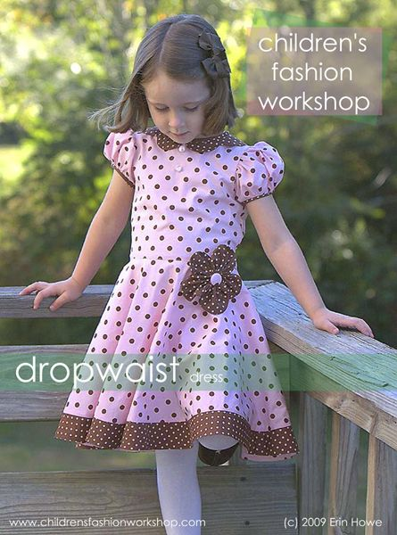 dropwaist dress~free pdf pattern download