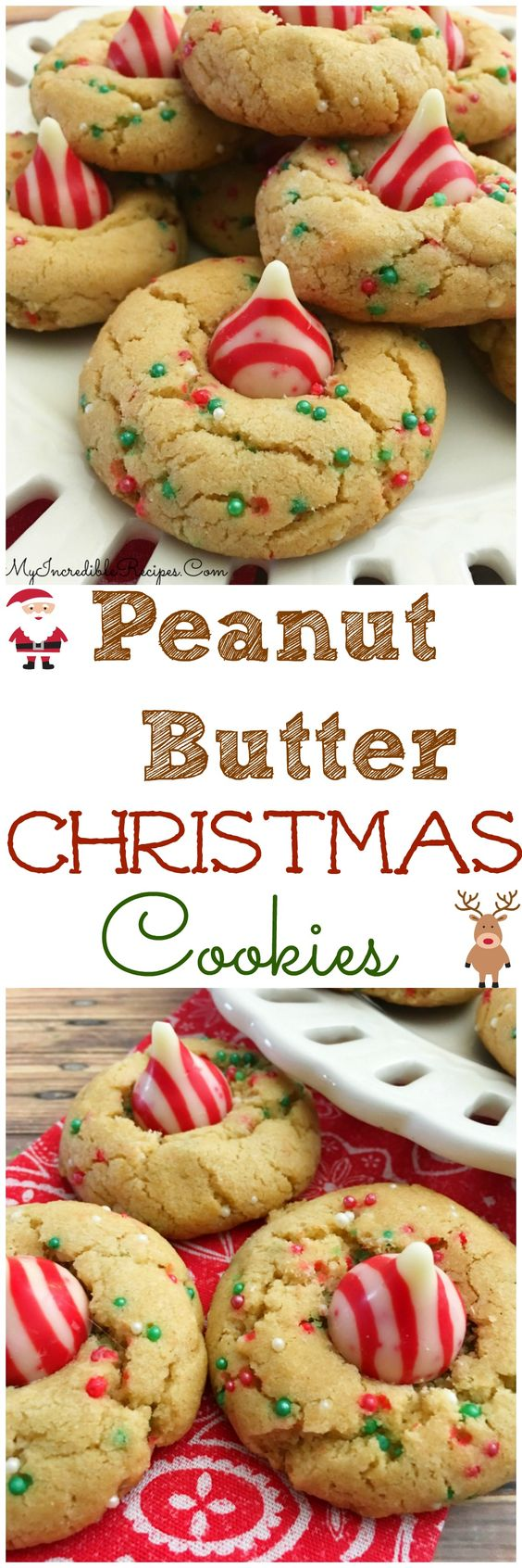 Peanut Butter Christmas Cookies!