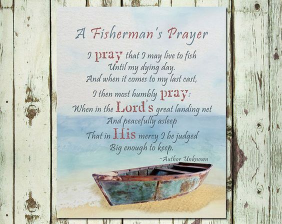 Printable father 39 s day gift fisherman 39 s prayer man cave for Inspirational fishing quotes