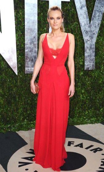 Diane Kruger in Calvin Klein at the Vanity Fair Oscar Party last night