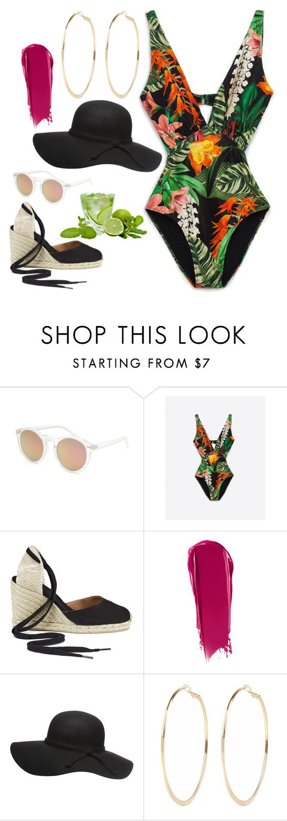 """""""Untitled #156"""" by gsdambek ❤ liked on Polyvore featuring Blue Crown, Castañer, NARS Cosmetics, Dorothy Perkins and River Island"""