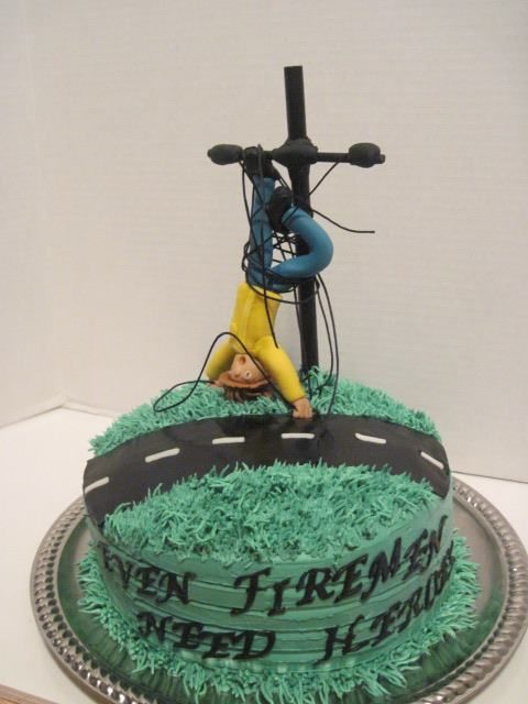 power lineman wedding cake topper retirement cake ideas just b cause 18705