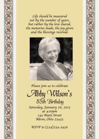Adult Photo Card Birthday Invitation O