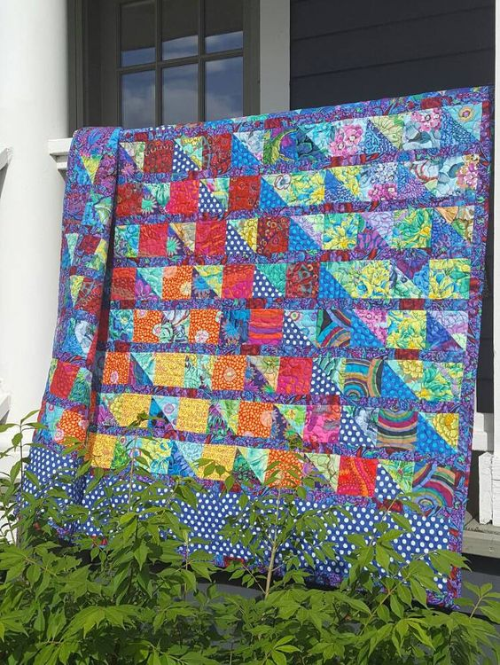 Blue For You Throw Quilt by LilBeanQuilting on Etsy