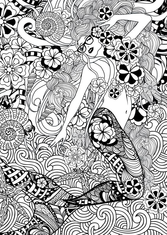 adult mermaid coloring pages - mermaid zentangle percy and the colouring adventure