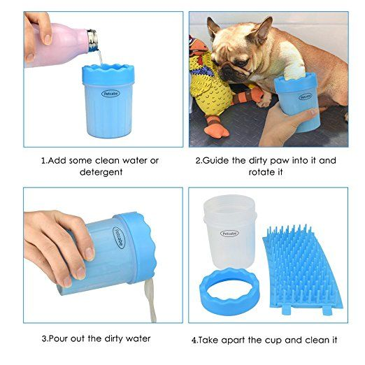 Petcabe Mudbuster Portable Dog Paw Cleaner Pet Cleaning Brush Cup